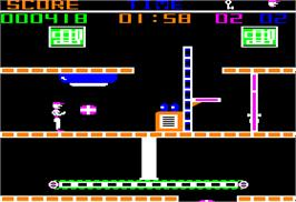In game image of Heist on the Apple II.