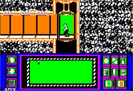 In game image of Impossible Mission on the Apple II.