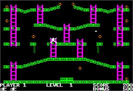 In game image of Jumpster on the Apple II.