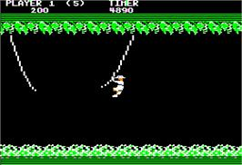 In game image of Jungle Hunt on the Apple II.