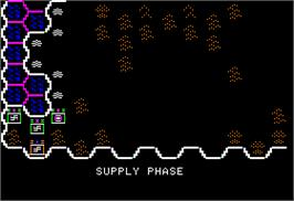 In game image of Knights of Legend on the Apple II.