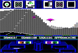 In game image of Koronis Rift on the Apple II.