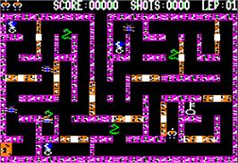 In game image of Lady Tut on the Apple II.