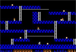 In game image of Lode Runner on the Apple II.