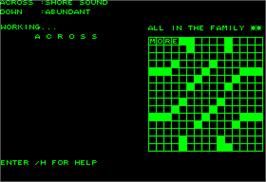 In game image of Mickey's Crossword Puzzle Maker on the Apple II.