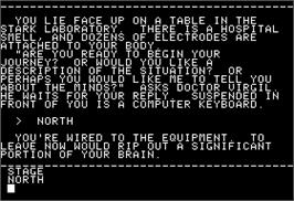In game image of Mindwheel on the Apple II.