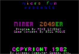 In game image of Miner 2049er on the Apple II.