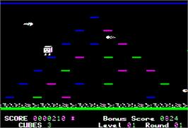 In game image of Mr. Cool on the Apple II.
