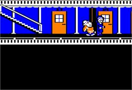 In game image of Murder on the Mississippi on the Apple II.