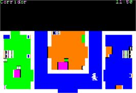 In game image of Murder on the Zinderneuf on the Apple II.