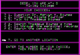 In game image of Mystery Master: Felony on the Apple II.