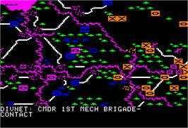 In game image of NATO Commander on the Apple II.