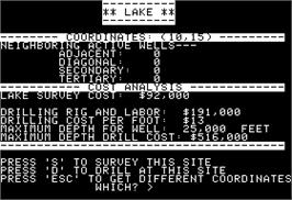 In game image of Oil Barons on the Apple II.