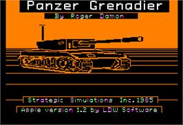 In game image of Panzer Grenadier on the Apple II.