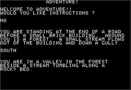 In game image of Pirate Adventure on the Apple II.