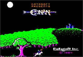 In game image of Pooyan on the Apple II.