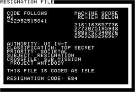In game image of Prisoner on the Apple II.