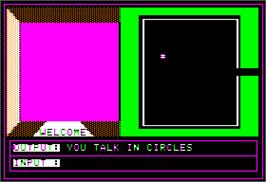In game image of Prisoner 2 on the Apple II.