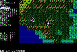 In game image of Questron on the Apple II.