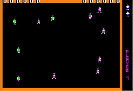 In game image of Robot Odyssey on the Apple II.