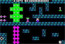 In game image of Saracen on the Apple II.