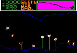 In game image of Sea Dragon on the Apple II.