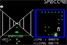 In game image of Serpentine on the Apple II.