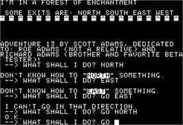 In game image of Sorcerer of Claymorgue Castle on the Apple II.