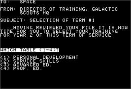 In game image of Space I on the Apple II.