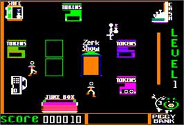 In game image of Spare Change on the Apple II.