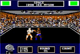 In game image of Star Rank Boxing 2 on the Apple II.