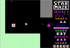 In game image of Stargate on the Apple II.