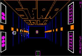 In game image of Stationfall on the Apple II.