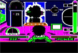 In game image of Sub Mission on the Apple II.