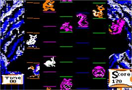 In game image of Super Bunny on the Apple II.