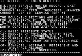 In game image of Suspect on the Apple II.