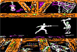 In game image of Swashbuckler on the Apple II.