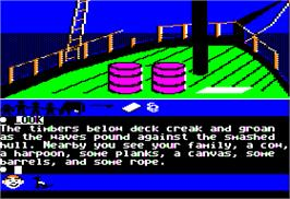 In game image of Swiss Family Robinson on the Apple II.