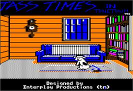 In game image of Tass Times in Tonetown on the Apple II.