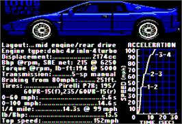 In game image of Test Drive on the Apple II.