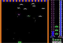 In game image of Threshold on the Apple II.