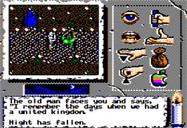 In game image of Times of Lore on the Apple II.