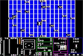 In game image of Tomahawk on the Apple II.