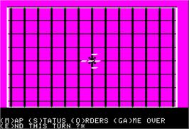 In game image of Torpedo Fire on the Apple II.