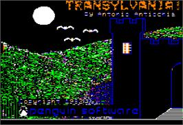 In game image of Transylvania on the Apple II.