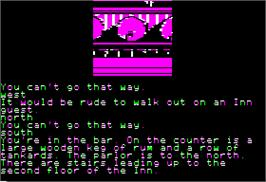 In game image of Treasure Island on the Apple II.