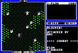 In game image of Ultima IV: Quest of the Avatar on the Apple II.