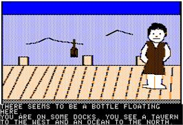 In game image of Ulysses and the Golden Fleece on the Apple II.