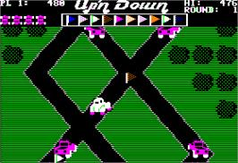 In game image of Up'n Down on the Apple II.