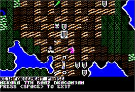 In game image of War of the Lance on the Apple II.